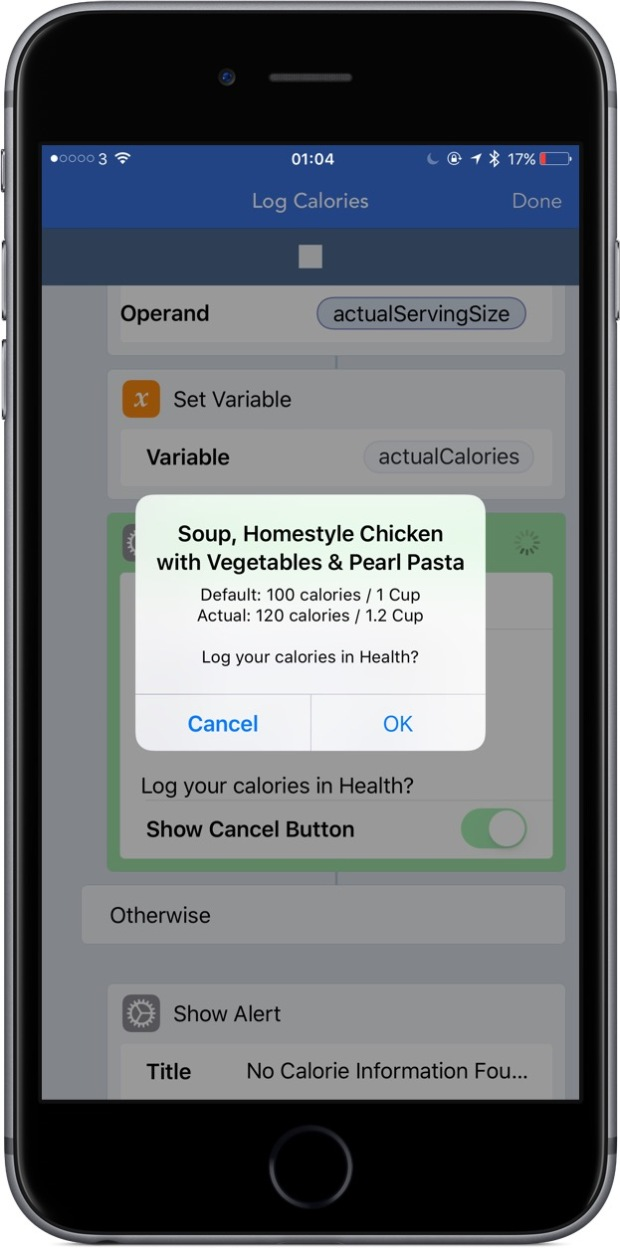 Calorie information for most US grocery items, along with the recommended serving size, can be determined