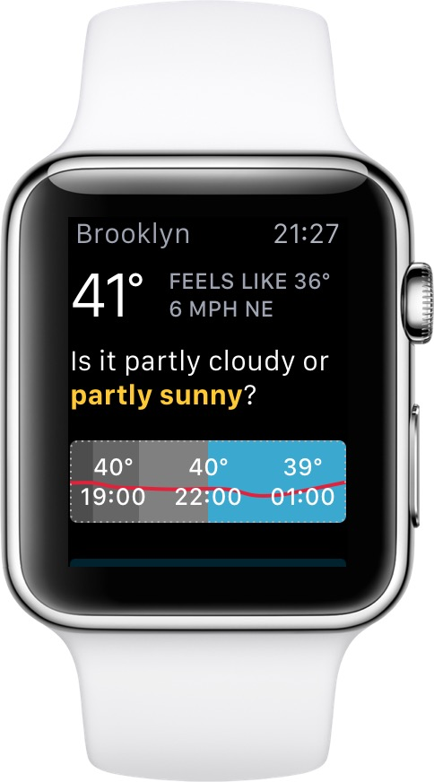 Apple Watch with CARROT Weather