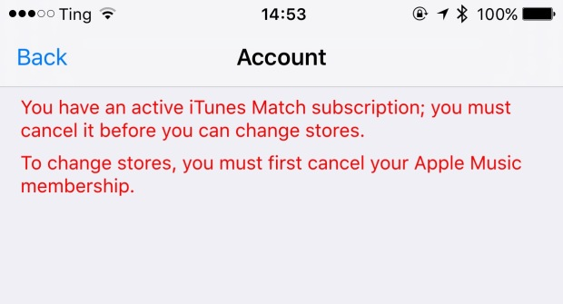 iTunes Match and Apple Music errors