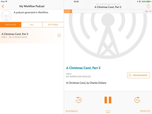 Using Overcast as an Audiobook player