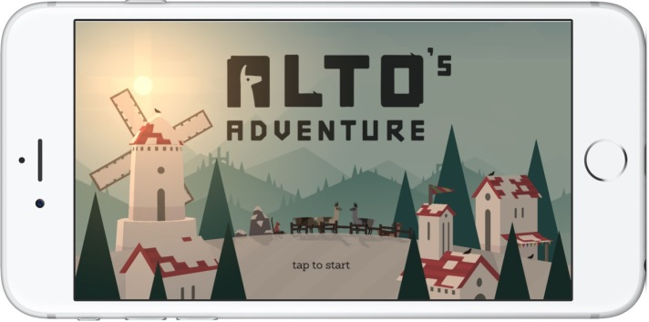 iPhone 6s Plus with Alto's Adventure